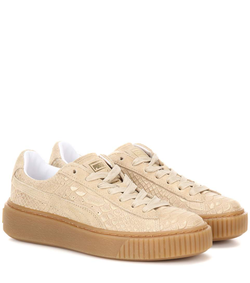 Platform Sneakers In Beige