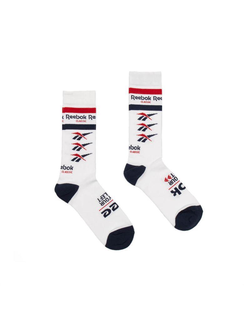 Reebok Cl Vector Crew Socks In White