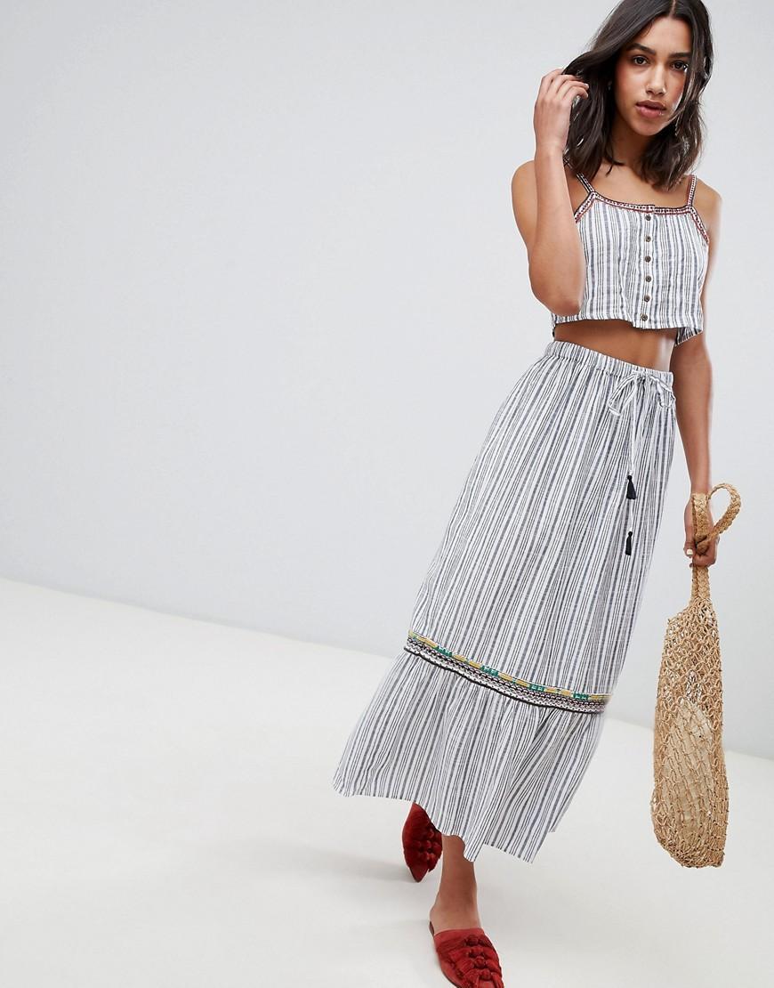 1c7de4c1b Raga Sailor Maxi Skirt - Gray | ModeSens