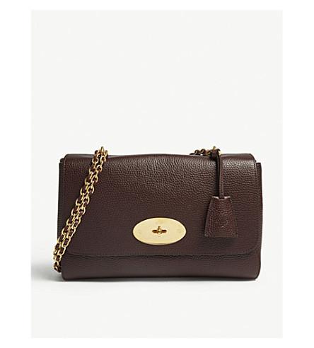5e428f1236d Mulberry Lily Medium Grained-Leather Shoulder Bag In Oxblood. Selfridges