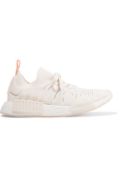 promo code 1b0e3 bea2d Adidas Originals Nmd R1 Stlt Rubber-Trimmed Primeknit Sneakers In White