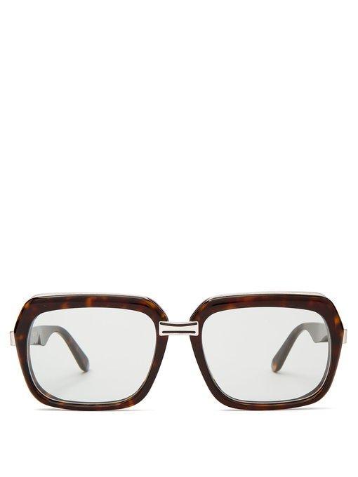 c9678c5b9bb Celine Eyewear - Oversized Square Frame Acetate Sunglasses - Womens - Dark  Brown