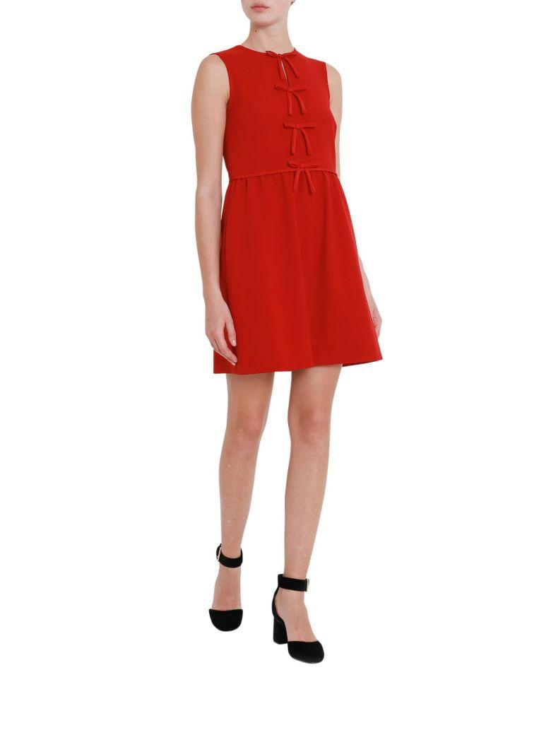 9f922ae80b Red Valentino Short Sleeveless Dress With Bows In Rosso | ModeSens