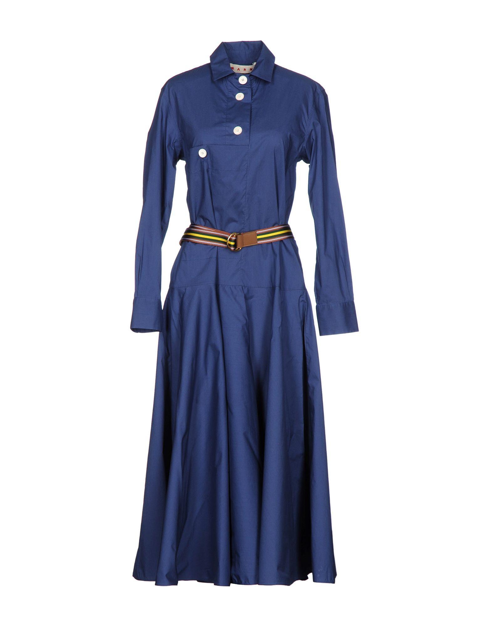 Marni 3/4 Length Dress In Blue