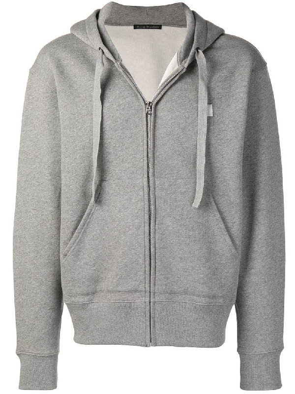 b1eaf9e9 Acne Studios Ferris Face Patch Zip Hoodie In Grey   ModeSens