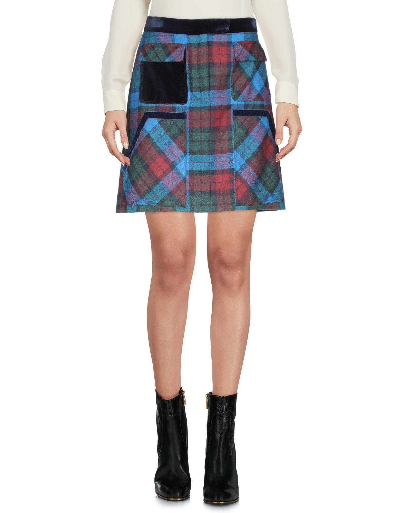 Tommy Hilfiger Mini Skirt In Blue