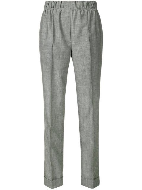 Helmut Lang Tailored Wool And Mohair Blend Trousers In Grey