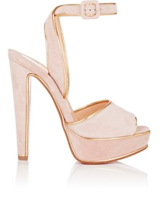 on sale fd004 c58f4 Louloudance Suede Platform Sandals in Pink