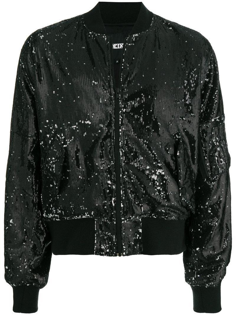 Ktz Limited Edition Sequin Bomber Jacket - Black