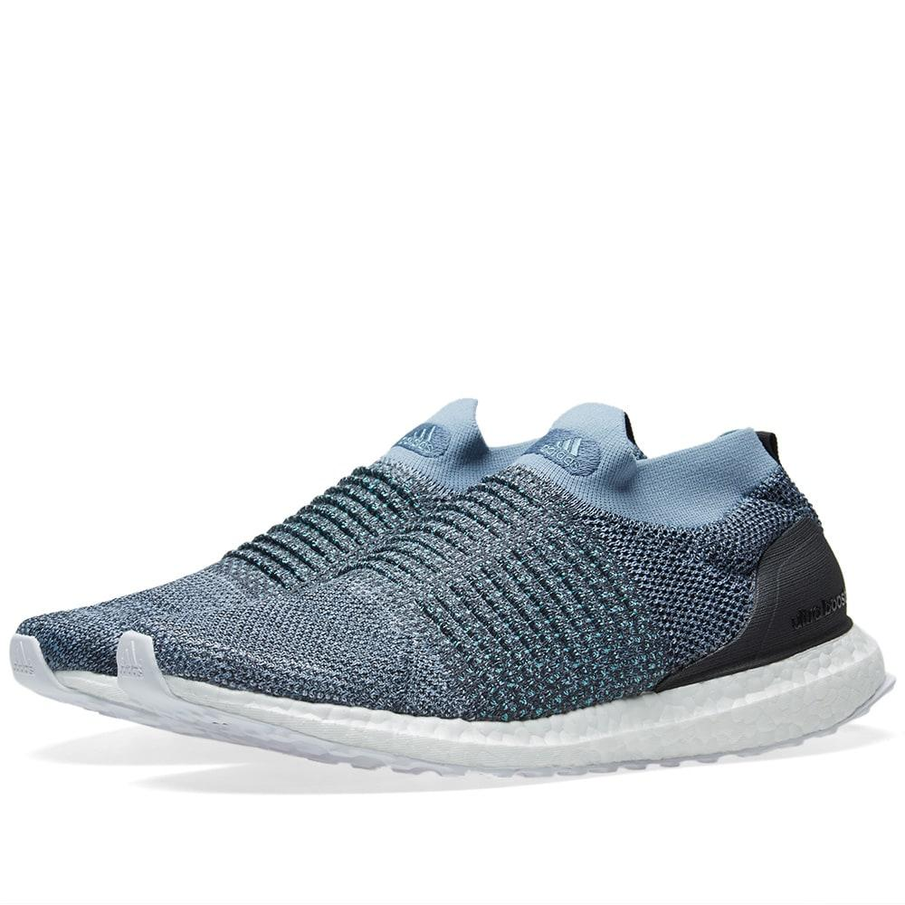 cheap for discount bba5f debd0 Adidas Originals Adidas Ultra Boost Laceless Parley In Blue