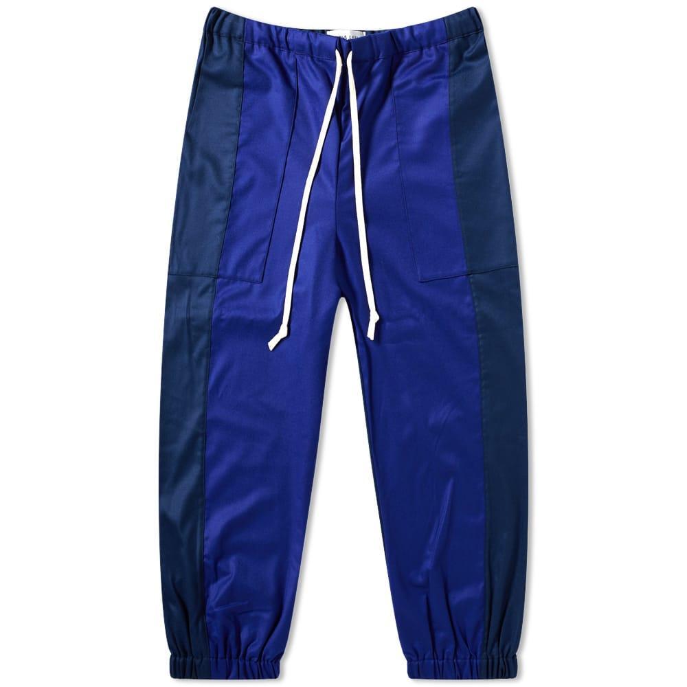 Dima Leu Flannel Track Pant In Blue