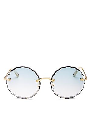 6a371ab51c4e CHLOÉ. Women s Rose Scalloped Rimless Round Sunglasses