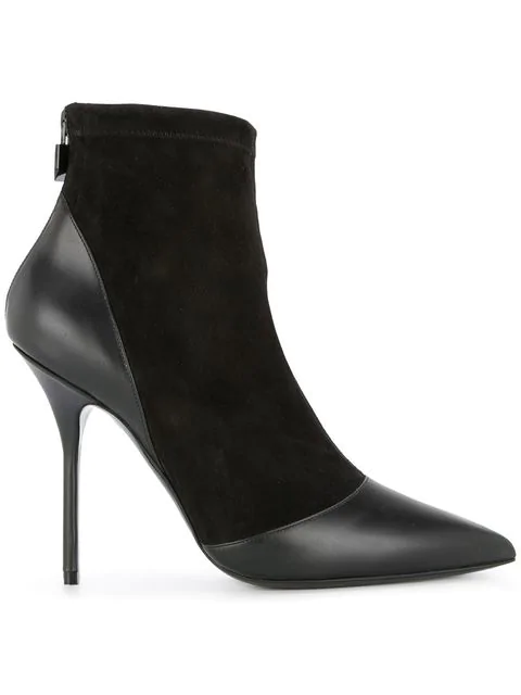 Pierre Hardy Dolly Suede & Leather Ankle Boots - Black