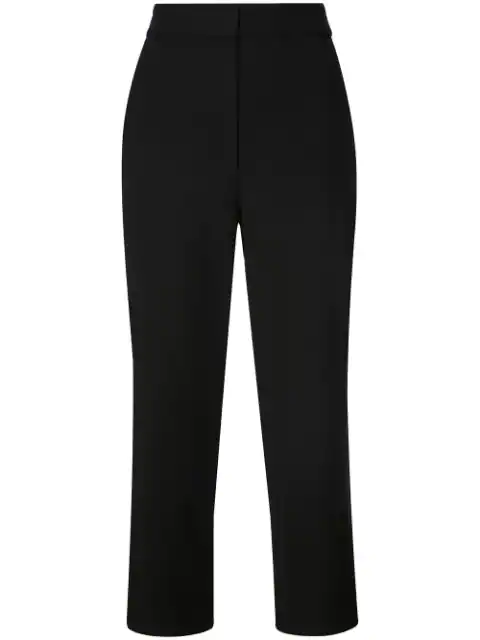Tibi Anson Taylor Cropped Trousers In Black