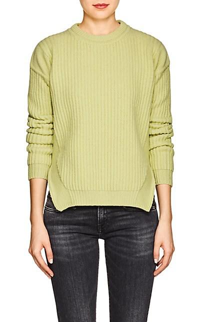 Rick Owens Rib-Knit Wool Sweater - Green