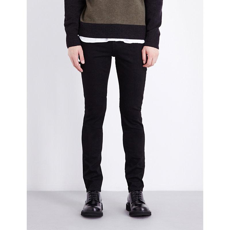 7 For All Mankind Ronnie Skinny-fit Tapered Jeans In Rinse Black