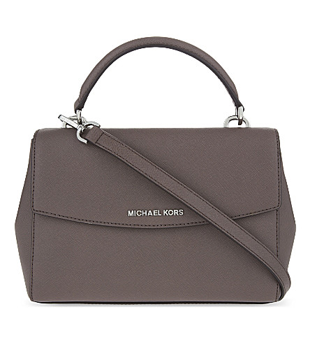 74b970a211468 Michael Michael Kors Ava Extra-Small Saffiano Leather Cross-Body Bag In  Cinder