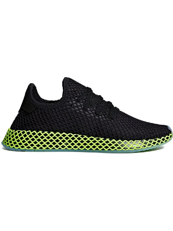 4b832e3a3 Adidas Originals Adidas Black And Green Deerupt Runner Sneakers ...