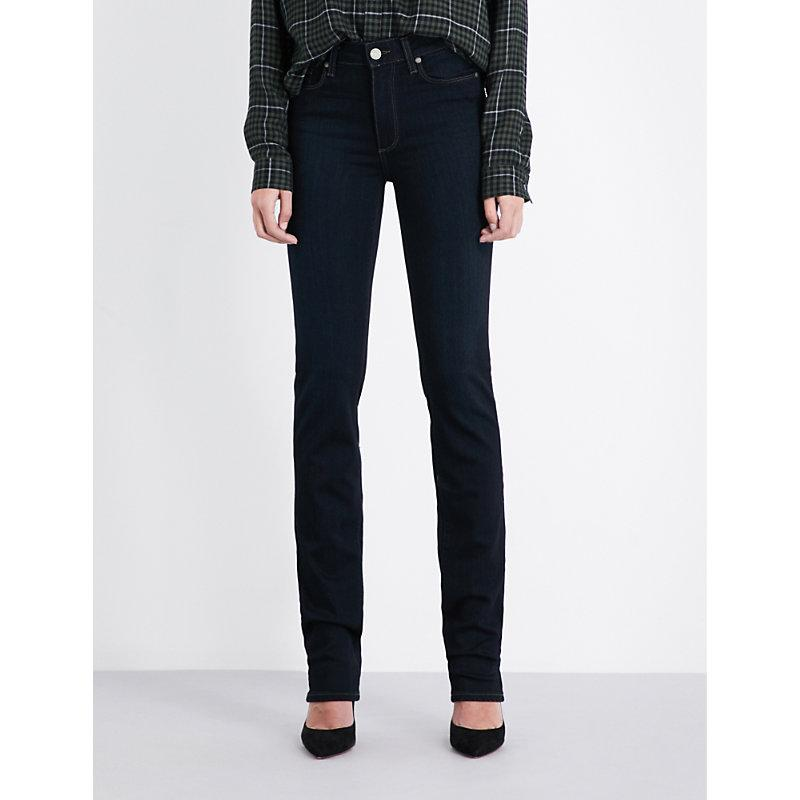 Paige Hoxton High-rise Slim-fit Jeans In Mona