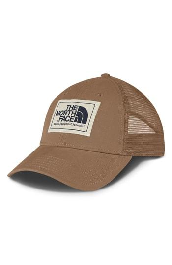 d9e8c878 The North Face Mudder Trucker Hat - Beige In Dune Beige/ Blue/ Peyote Beige
