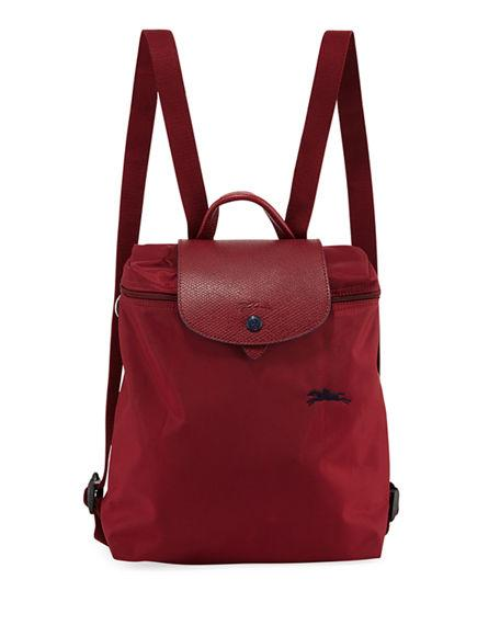 3f80c6656765 Longchamp Le Pliage Club Nylon Backpack In Garnet Red
