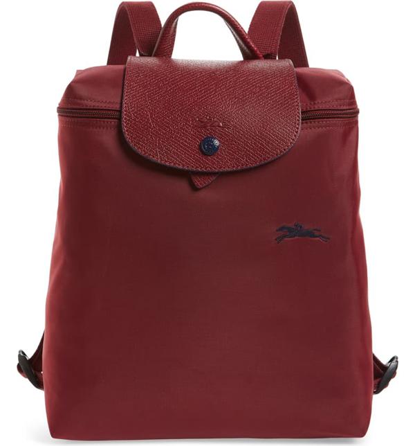 Le Pliage Club Nylon Backpack In Garnet Red