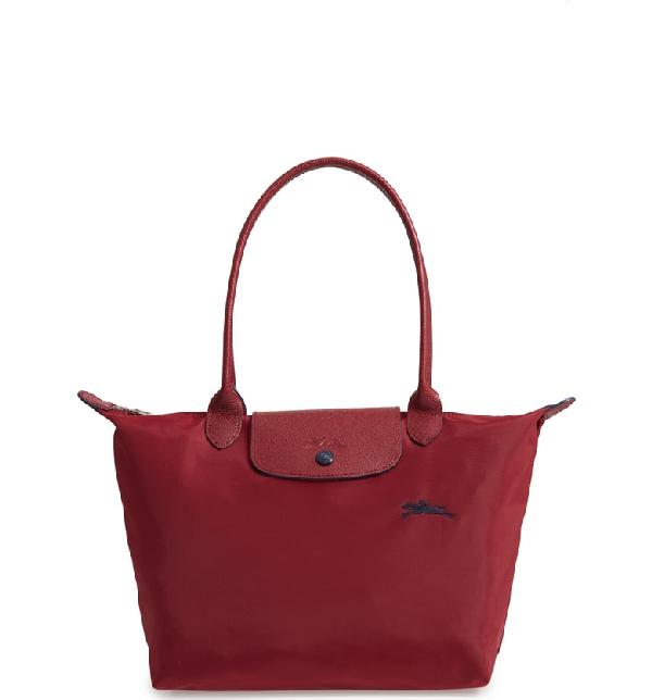 8135e0980a58a Longchamp Le Pliage Club Large Nylon Shoulder Tote Bag In Rosso Granato