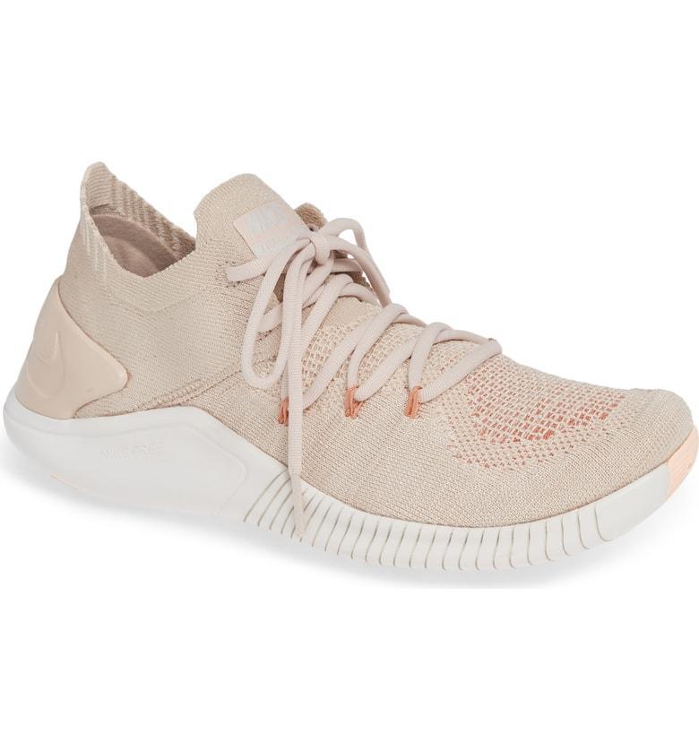 e472fc19bd690 Nike Women s Free Tr 3 Flyknit Low-Top Sneakers In Pink