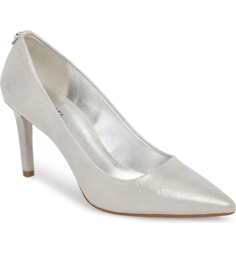 105d0395e3758 Michael Michael Kors Dorothy Flex Pump In Silver Metallic Leather ...