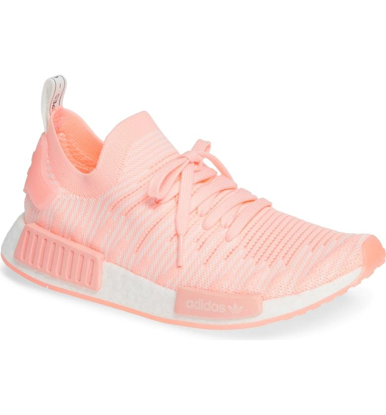 best loved 8e6f5 385d7 Adidas Originals Nmd R1 Stlt Primeknit Sneaker In Clear Orange  Cloud White