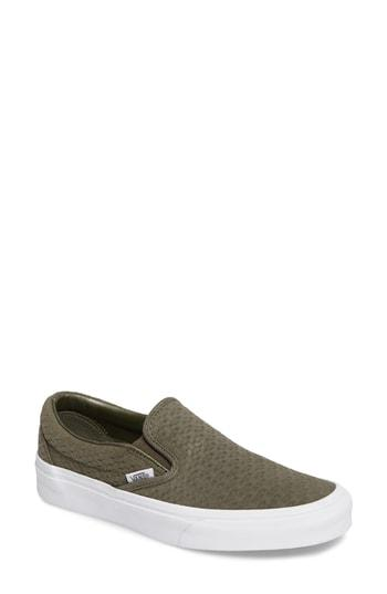61b0830c5b Vans Classic Slip-On Sneaker In Desert Taupe  Emboss Suede