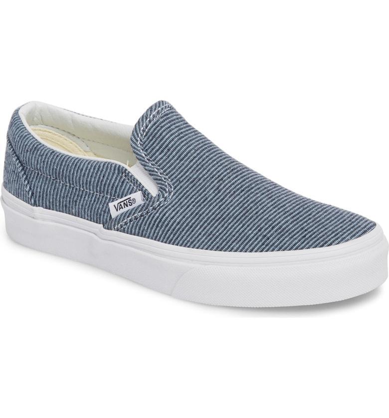 d28f42b840 Vans Classic Slip-On Sneaker In Jersey Blue  True White