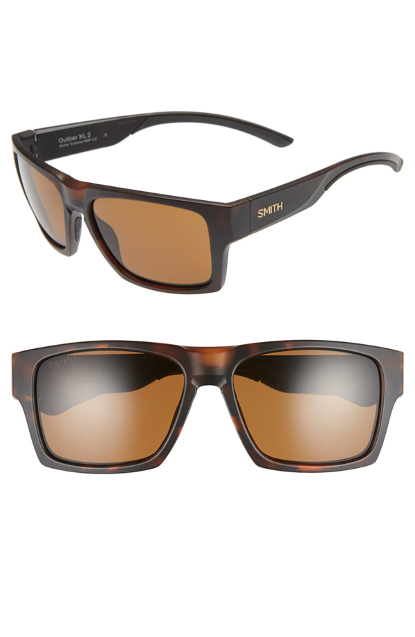 Smith Outlier 2xl 59mm Polarized Sunglasses In Matte Tortoise