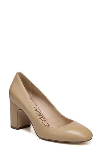 6efcd5b5e426b ... we re talking about leopard-print haircalf Sam Edelman pumps. The  rounded toe and chunky block heel make these the perfect finishing touch  for pretty ...