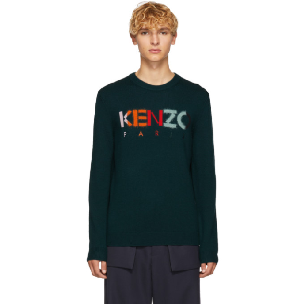 6ac82c8366 Kenzo Green Paris Logo Sweater In 53.Pine. SIZE & FIT INFORMATION