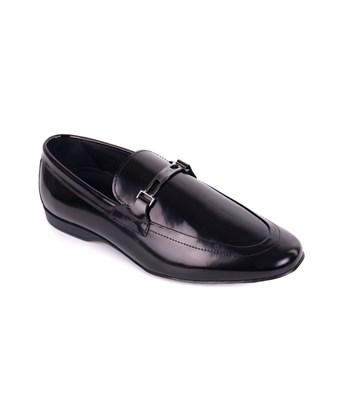 9c32b083ce2 Versace Collection Mens Black Polished Leather Logo Loafers