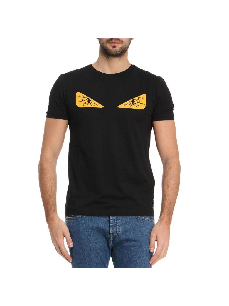 c362143bc391 Fendi Monster Eyes Chocker T-Shirt In Cotton Jersey With Maxi-Patches Eyes  Bag
