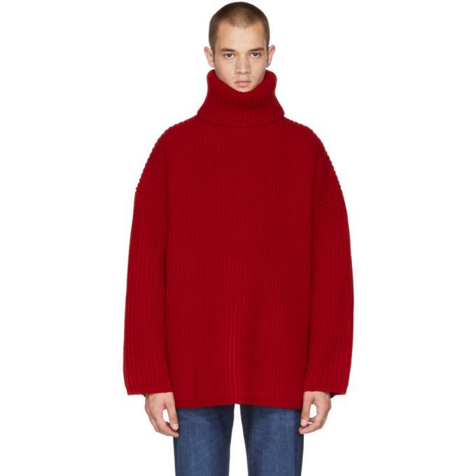 51a985069 Acne Studios Ribbed Turtleneck Sweater Caramel Brown