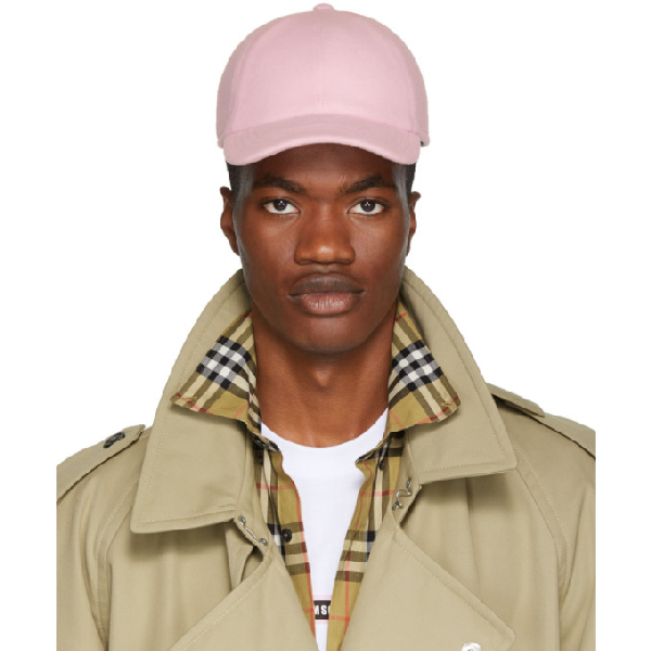 Msgm Embroidered Logo Baseball Cap In 12 Pink