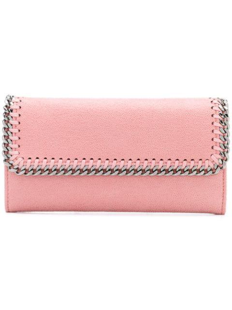 Stella Mccartney Falabella Wallet In Pink