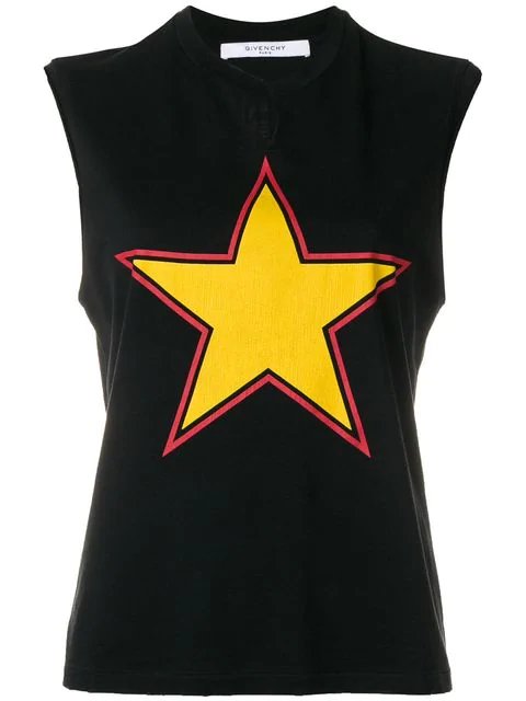 Givenchy Star Print Top In Black