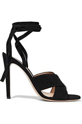 Gianvito Rossi Woman Suede Sandals Black
