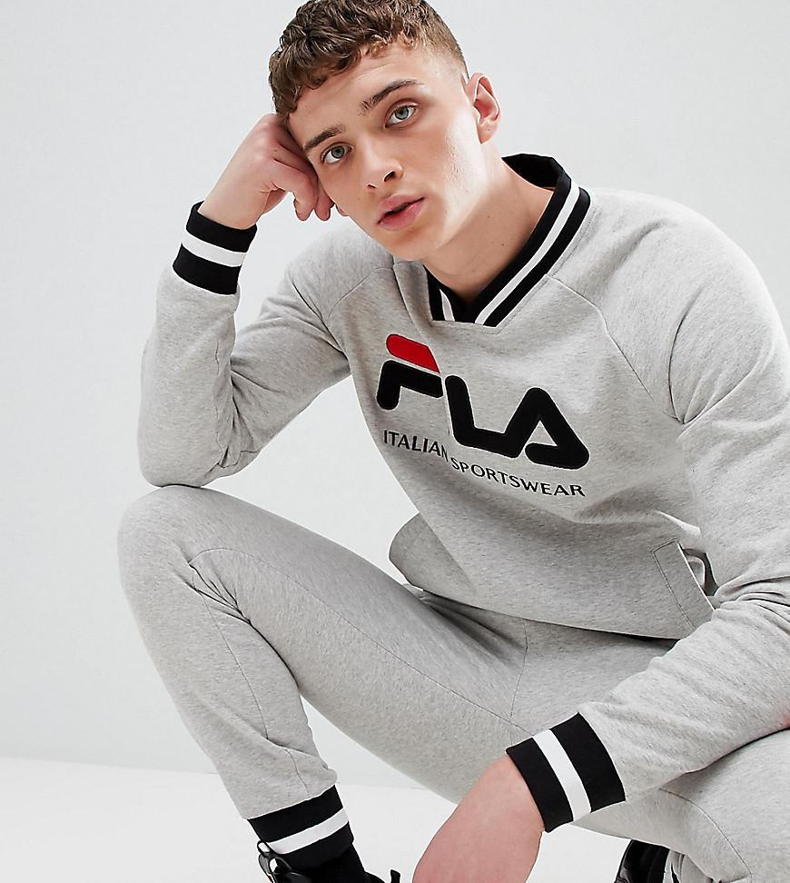 1d6c4754ec75 Fila Retro Track Sweatshirt In Gray - Gray | ModeSens
