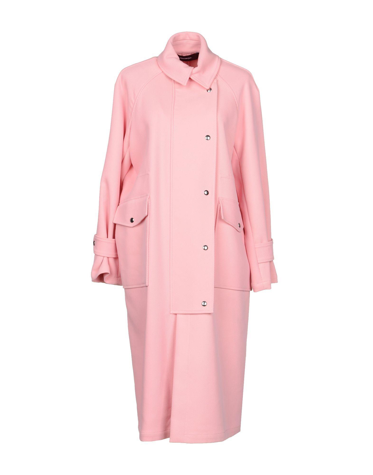 Sies Marjan Full-Length Jacket In Pink