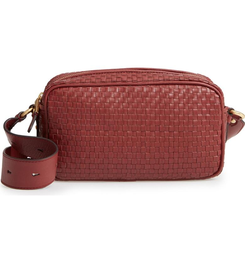 bf02380171 Cole Haan Zoe Rfid Woven Leather Camera Bag - Brown In Fired Brick ...