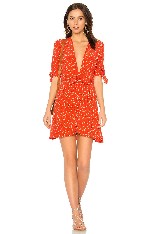 edad6f285c Faithfull The Brand Birgit Dress In Orange. In Blue Bell Floral Print