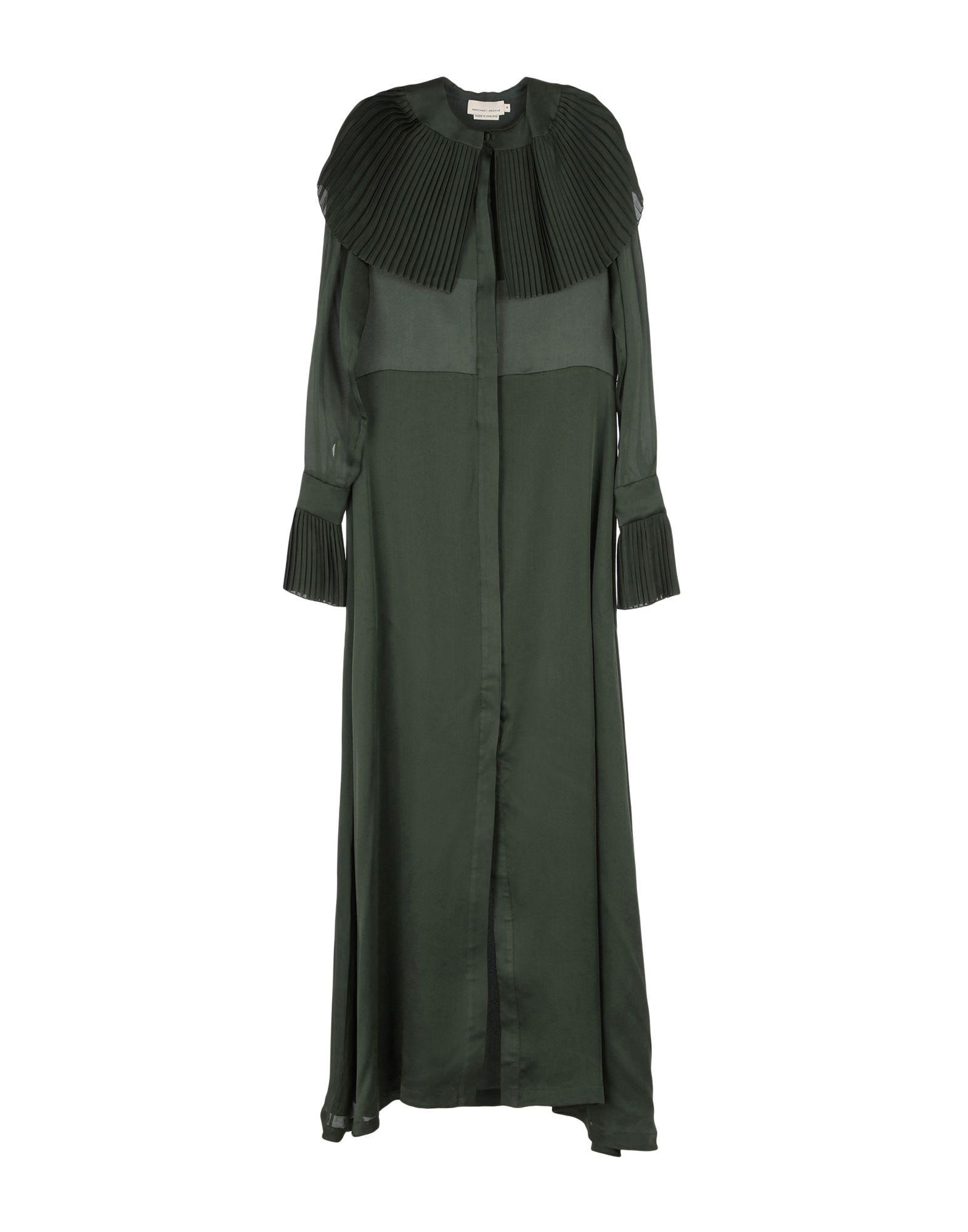 Merchant Archive Long Dress In Military Green