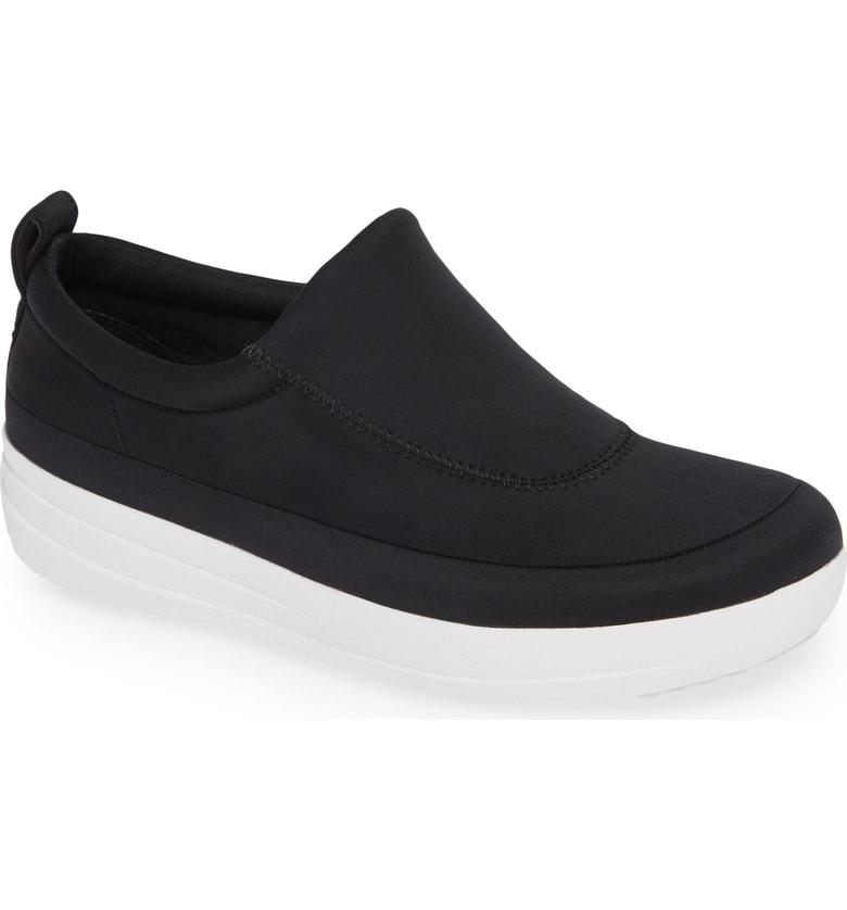 a05777568 Fitflop Freeflex Slip-On Sneaker In Black Fabric