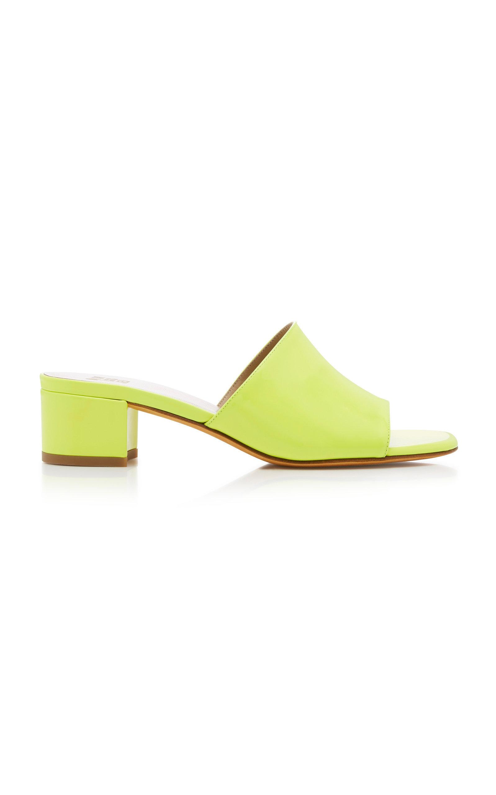 8b5a2b2eb32a Maryam Nassir Zadeh Sophie Patent Leather Slides In Yellow