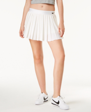 af53f54313 Nike Court Victory Dri-Fit Pleated Tennis Skirt In White   ModeSens